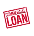 Commercial Loan rubber stamp vector image