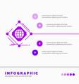 complex global internet net web infographics vector image