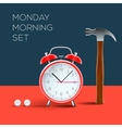 concept - i hate monday morning vector image vector image