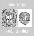 cover design for print with lion vector image vector image