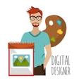 Creative ideas graphic designer vector image vector image