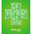 cross green vector image