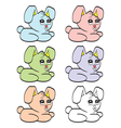 Cute cartoon baby rabbit vector image vector image