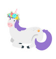 cute unicorn fairytale animal vector image vector image