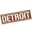 detroit brown square stamp vector image vector image