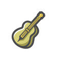 double bass music instrument icon cartoon vector image vector image