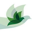 eco bird business logo vector image