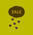 flat icon of sale gift rain vector image vector image