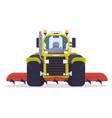 front view of cultivator tractor vector image