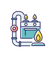 gas pipework rgb color icon vector image