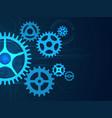 gears background cogwheels mechanisms engineering vector image
