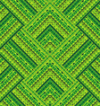 Green geometrical tribal pattern vector image vector image
