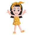 happy girl on white background vector image vector image