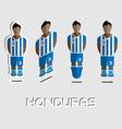 Honduras Soccer Team Sportswear Template vector image vector image