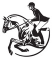 horse show jumping logo vector image vector image