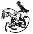 horse show jumping logo vector image