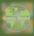 image of a green planet vector image