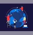 international business - flat design style vector image