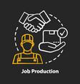 job production chalk concept icon jobbing vector image vector image