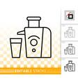juicer simple black line icon vector image
