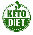 keto diet sign or stamp vector image