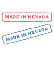 made in nevada textile stamps vector image vector image