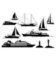 marine vehicles and objects vector image