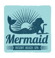 mermaid logo design vector image vector image