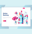 modern flat design isometric online banking vector image