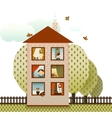 neighbors in village house vector image
