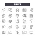 news line icons signs set outline vector image vector image