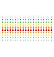 pear shape halftone spectral grid vector image