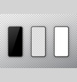 phone black white and transparent display set vector image