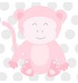 pink monkey vector image vector image