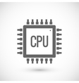 Processor chip icon vector image