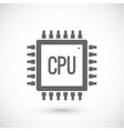 Processor chip icon vector image vector image