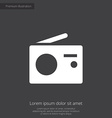 radio premium icon white on dark background vector image vector image