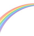 rainbow icon realistic isolated white background vector image