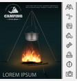 realistic camping concept vector image vector image