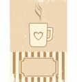 Retro of coffee vector image
