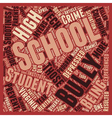 Schools Biggest Threat text background wordcloud vector image vector image