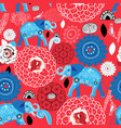 seamless bright pattern blue elephants vector image vector image
