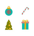 set of christmas flat style vector image
