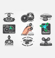 set of hand fidget spinner stress relief toys vector image vector image