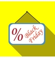Sign sale black friday icon flat style vector image vector image