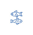 small fish line icon concept small fish flat vector image vector image