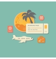 style modern concept planning a summer vacation vector image