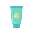 sunscreen tube flat icon vector image