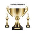 super trophy cups realistic set vector image vector image