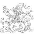 thematic coloring for halloween vector image vector image